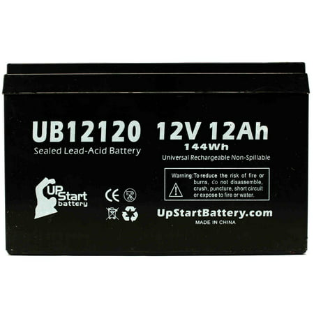 Shoprider Jimmie Battery Replacement - UB12120 Universal Sealed Lead Acid Battery (12V, 12Ah, 12000mAh, F1 Terminal, AGM, SLA) - Includes TWO F1 to F2 Terminal Adapters - image 4 de 4