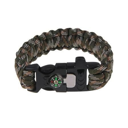 Survival Bracelet with Compass Whistle Buckle - Camo - Walmart.com b30fb08a566