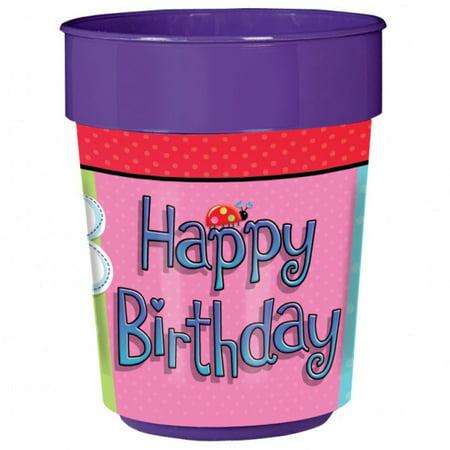 Garden Gril Plastic Party 16 oz Cup