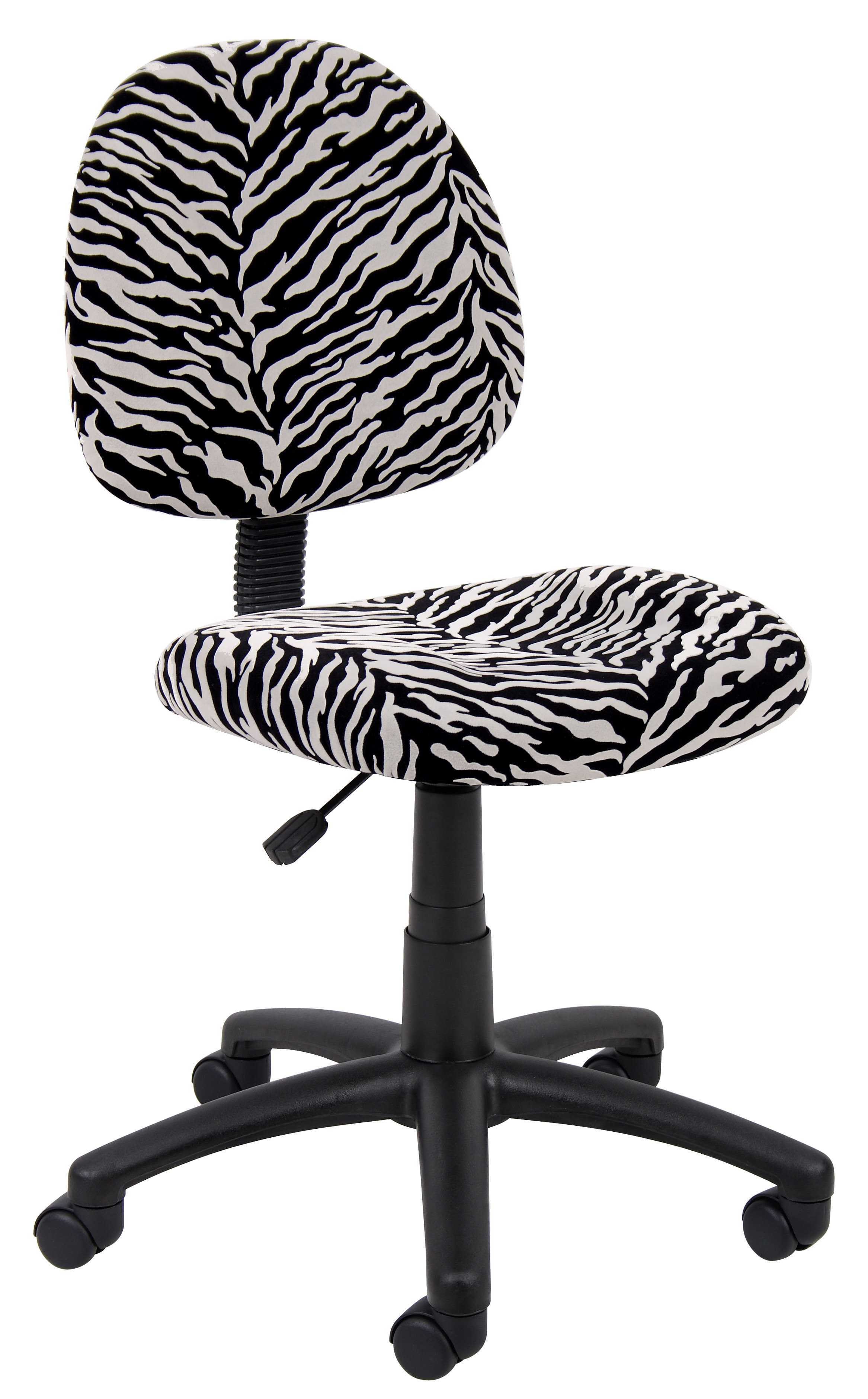 Boss Office Products Zebra Perfect Posture Delubye Modern Home Office Chair Without Arms Walmart Com Walmart Com