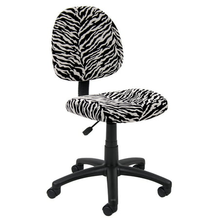 Boss Office Products Zebra Perfect Posture Delubye Modern Home Office Chair without - Perfect Posture Chair