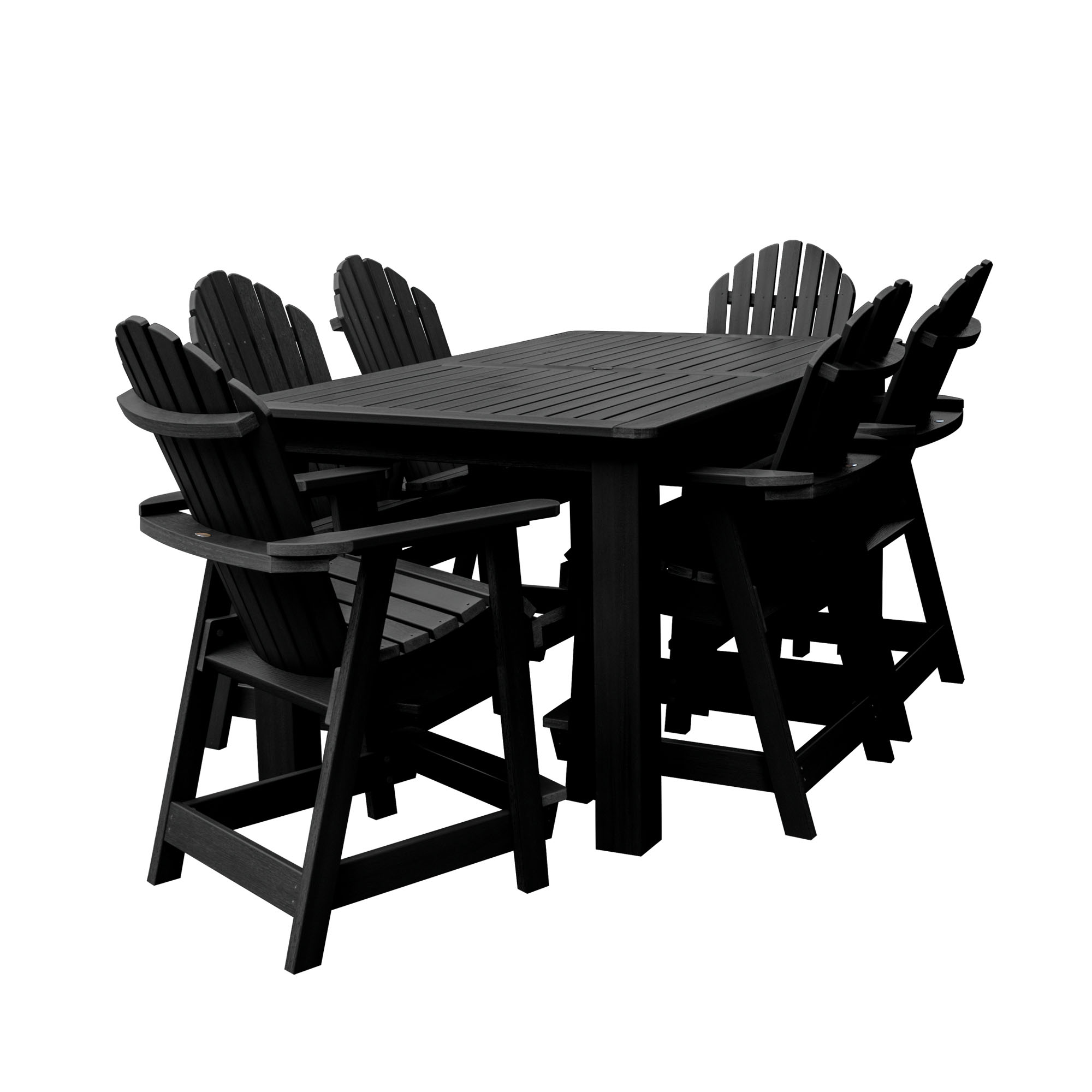 "highwood® Hamilton 7pc Rectangular Counter Height Dining Set 72"" x 42"""