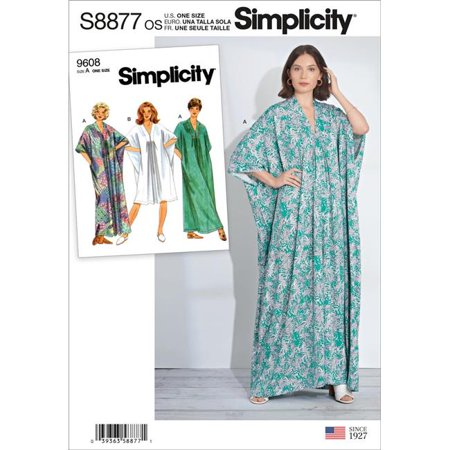 Simplicity US8877OS Sewing Pattern Womens Caftan, One Size