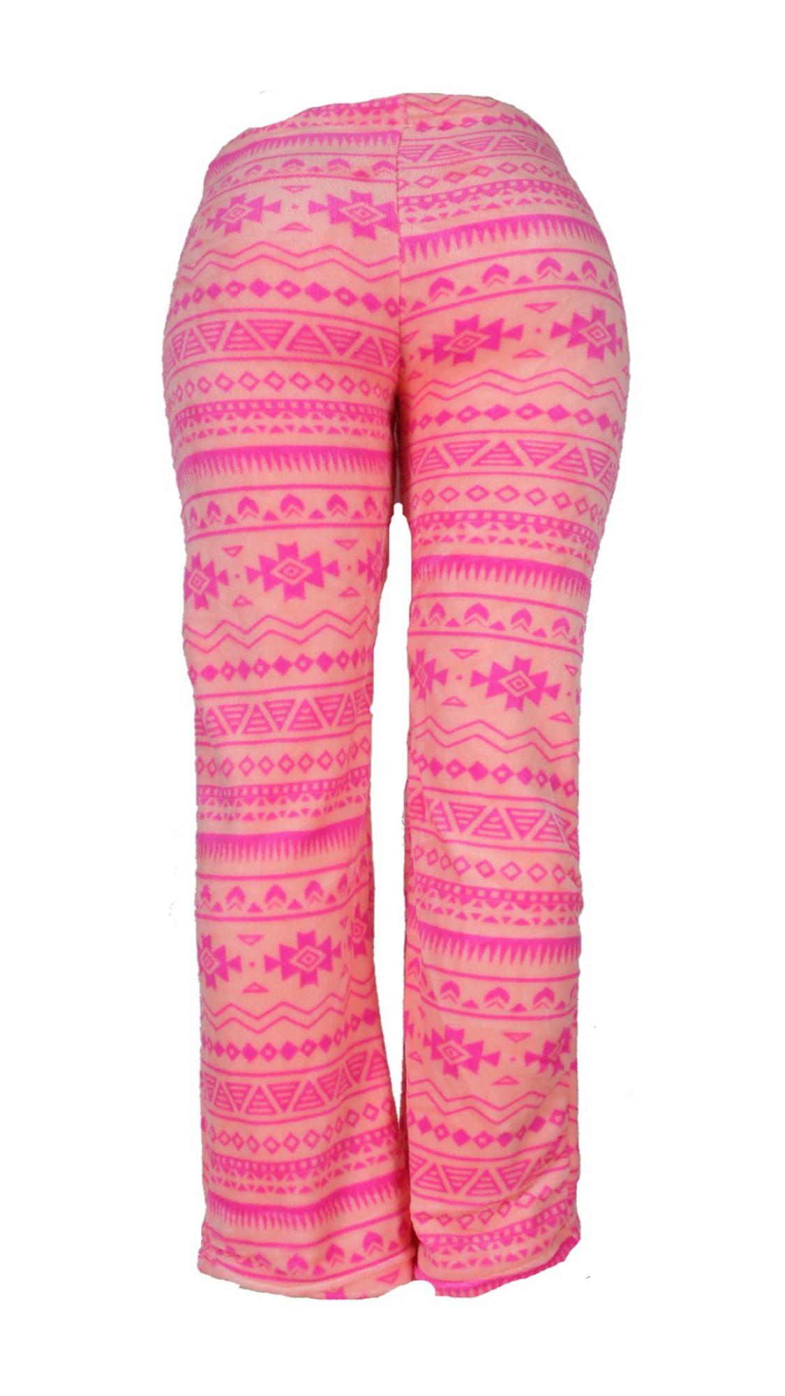Yacht /& Smith Womens Butter Soft Fleece Fuzzy Lounge Pants One Size Lips Print