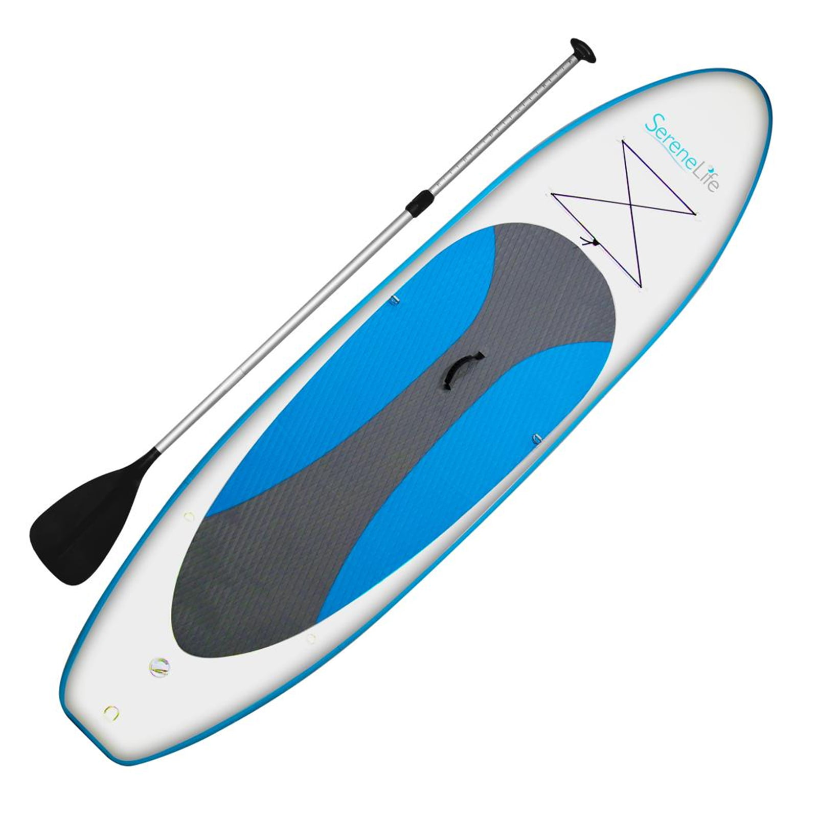 SereneLife Thunder Wave SUP Stand Up Water Paddle Board by Pyle