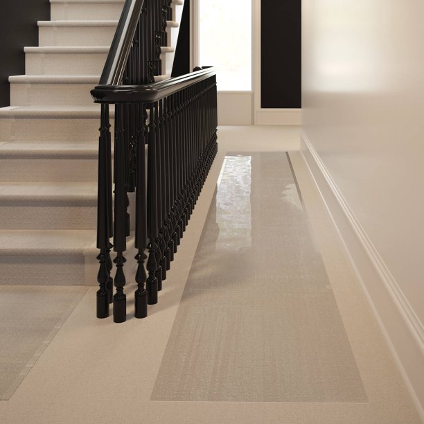 Mainstays Low Pile Carpet Vinyl Runner Clear 2 X 12 Walmart Com Walmart Com