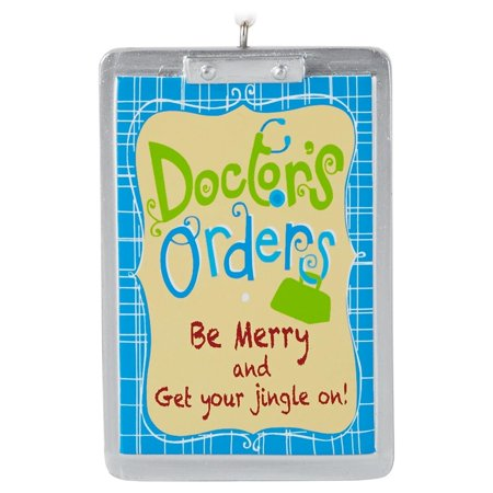 2016 Healthcare Provider Gift Ornament  On Ornament    Doctors Orders Be Merry And Get Your Jingle On   By Hallmark