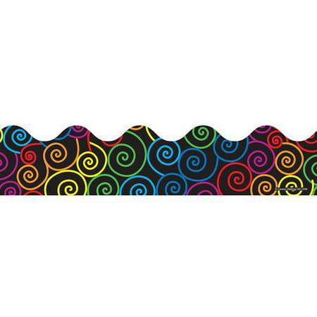 Frank Schaffer Publications/Carson Dellosa Publications Rainbow Swirls Classroom Border - Rainbow Border