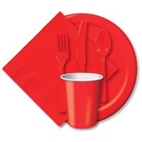 Paper Hot & Cold Cups 9oz 24/Pkg-Classic Red