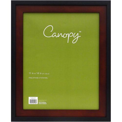 """Canopy 11"""" x 14"""" Frame, Black/Walnut"""
