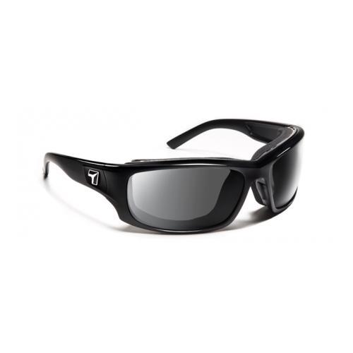 Image of 7 Eye Air Shield Panhead Sunglasses, SharpView Gray Lens, Glossy Black Frame,M-XL