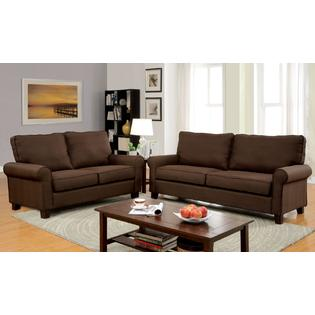 Leeds 2 Piece Living Room Set Upholstered in Fabric