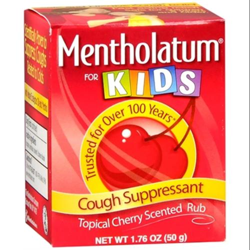 Mentholatum Cherry Chest Rub For Kids 1.76 oz (Pack of 2)