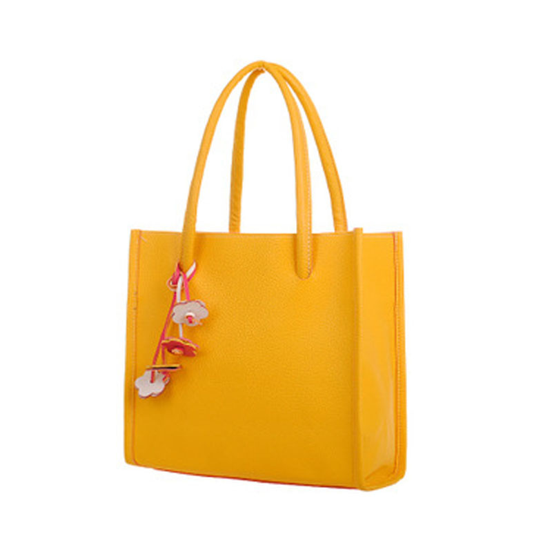 Ye Store Horse Of Flowers Lady PU Leather Handbag Tote Bag Shoulder Bag Shopping Bag