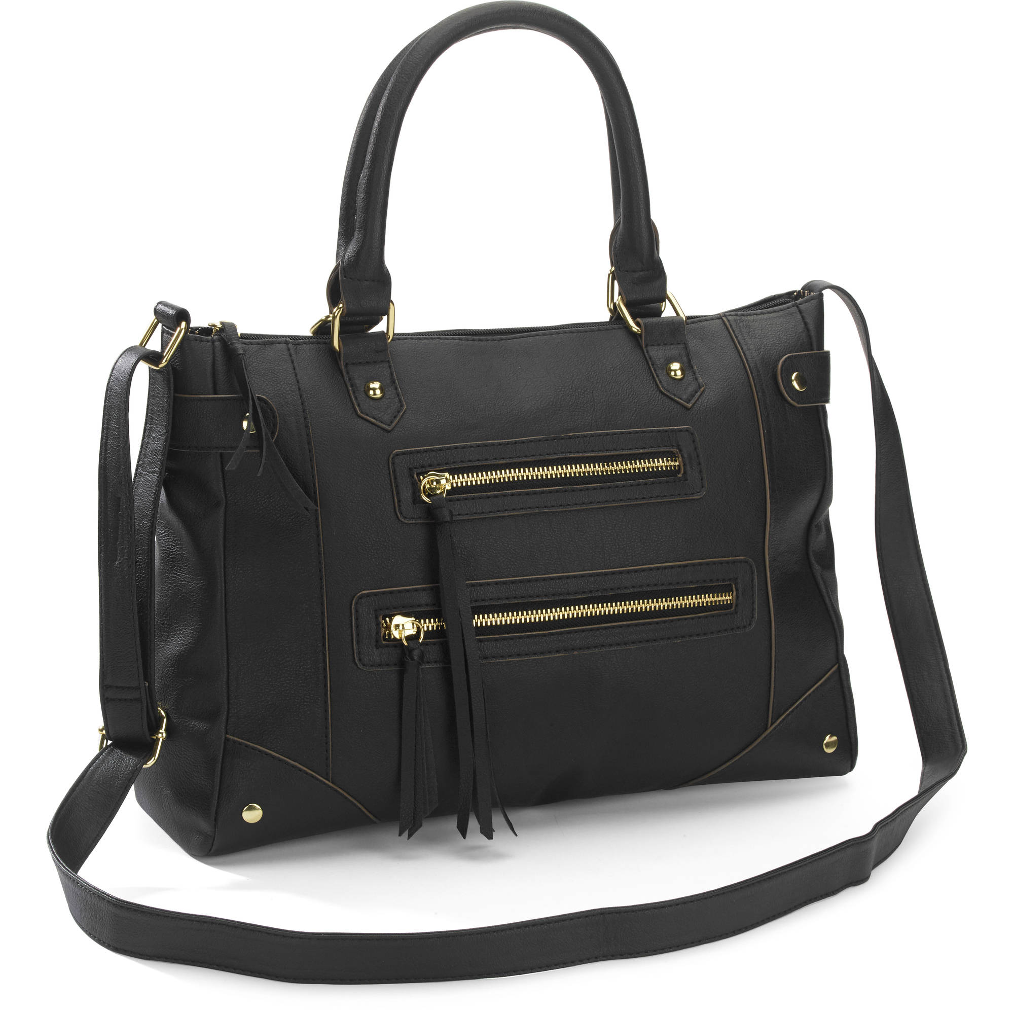 George Women's Contemporary Zipper Satchel Handbag