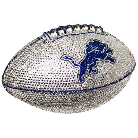 Detroit Lions Swarovski Crystal Football - No Size