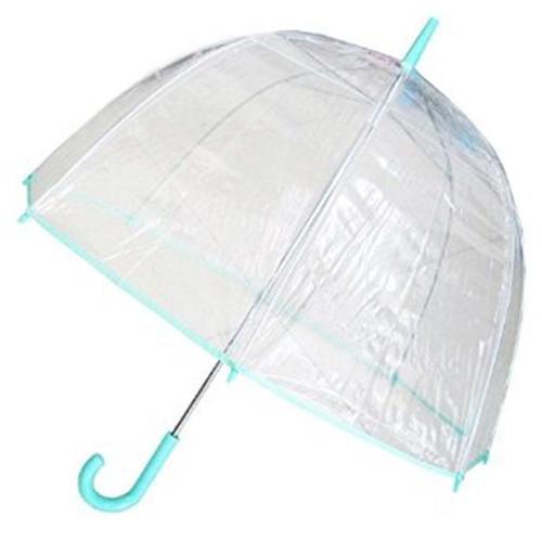Conch Umbrellas 1265Green Bubble Clear Umbrella, Dome Shape Clear Umbrella