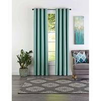"Better Homes & Gardens Curtain Panel, Basket Weave, Aqua Blue, 84"""
