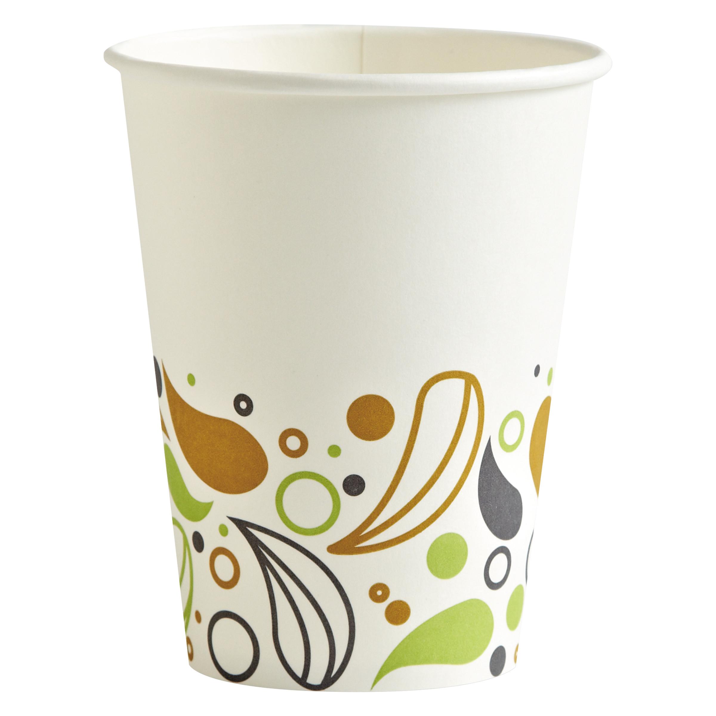 Boardwalk Deerfield Printed Paper Hot Cups, 12 oz, 1000 count -BWKDEER12HCUP
