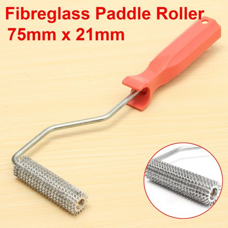 - Fiberglass Paddle Roller 75mmx21mm Aluminium Bubble Tool Plastic Wood Handle US