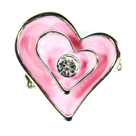 Pink Heart Shaped Fashion Ring  Elastic Ring Valentine Heart  Ganz
