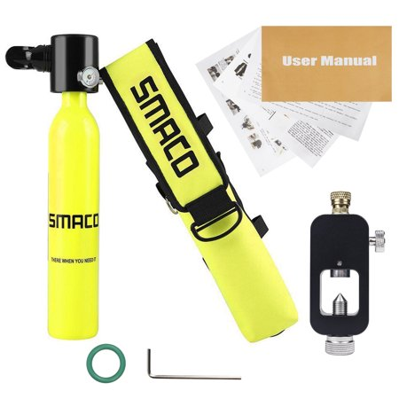 - SMACO Oxygen Cylinder Mini Scuba Oxygen Reserve Air Tank Diving Equipment Set