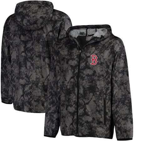 Boston Red Sox G-III Sports by Carl Banks Wind Chill Lightweight Full-Zip Jacket - Charcoal (Boston Red Sox Jacket)