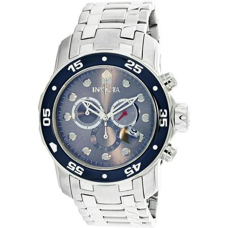 Swiss Quartz Chronograph (Men's 80059 Pro Diver Chronograph 48mm Swiss Quartz Silver SS Watch )