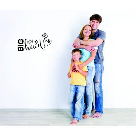 Custom Wall Decal Sticker : Big Heart Daycare Preschool School Kids Playroom Boy Girl Home Decor 8x20