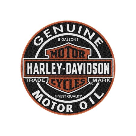 Wisconsin Badgers Rug - Harley-Davidson Slick Genuine B&S Round Rug, 22.5 inches, Black NW117362, Harley Davidson
