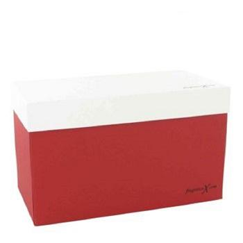 Gift Box FragranceX Two Piece Maroon and White Gift Box by
