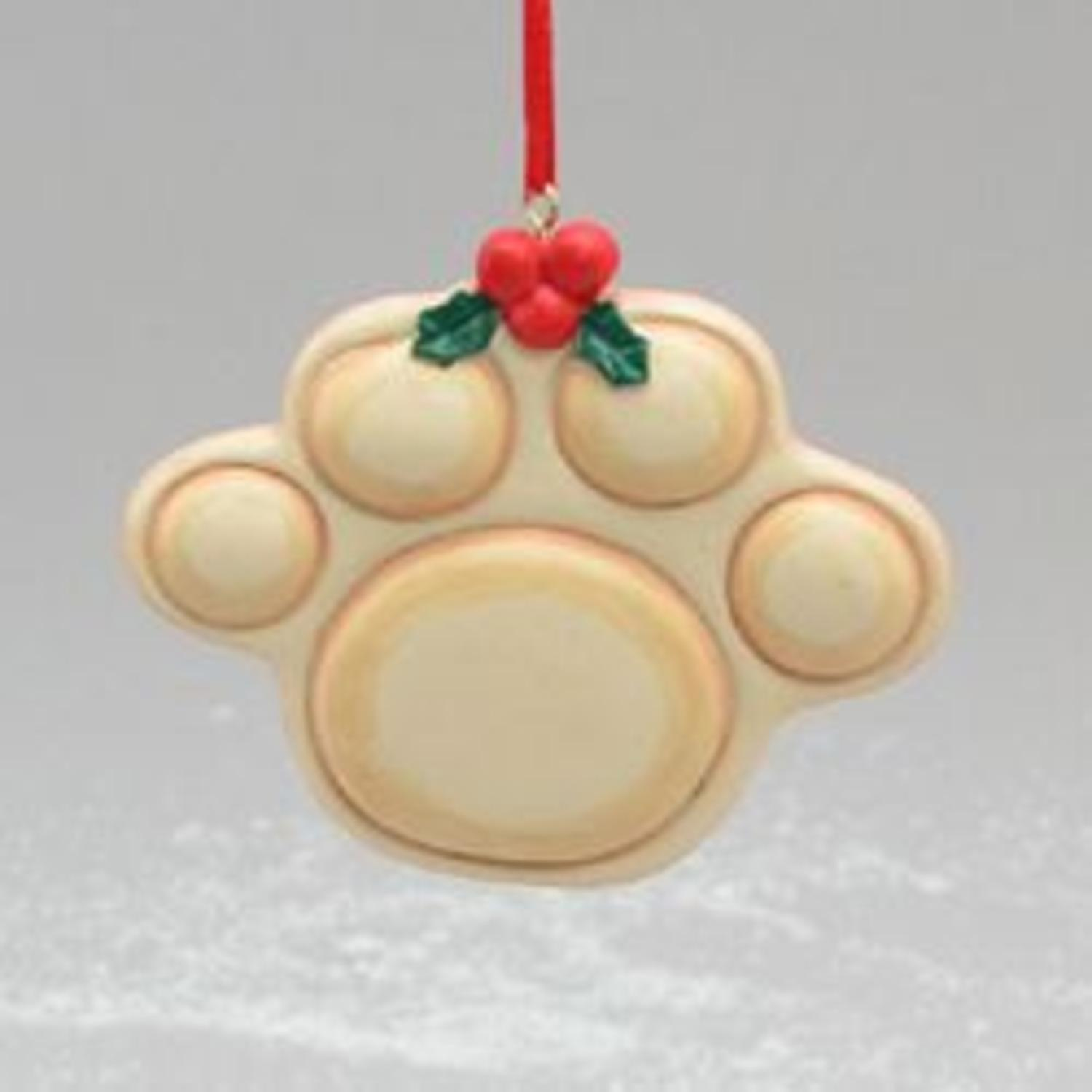 """Club Pack of 24 Dog Paw Print Christmas Ornaments for Personalization 3.25"""""""