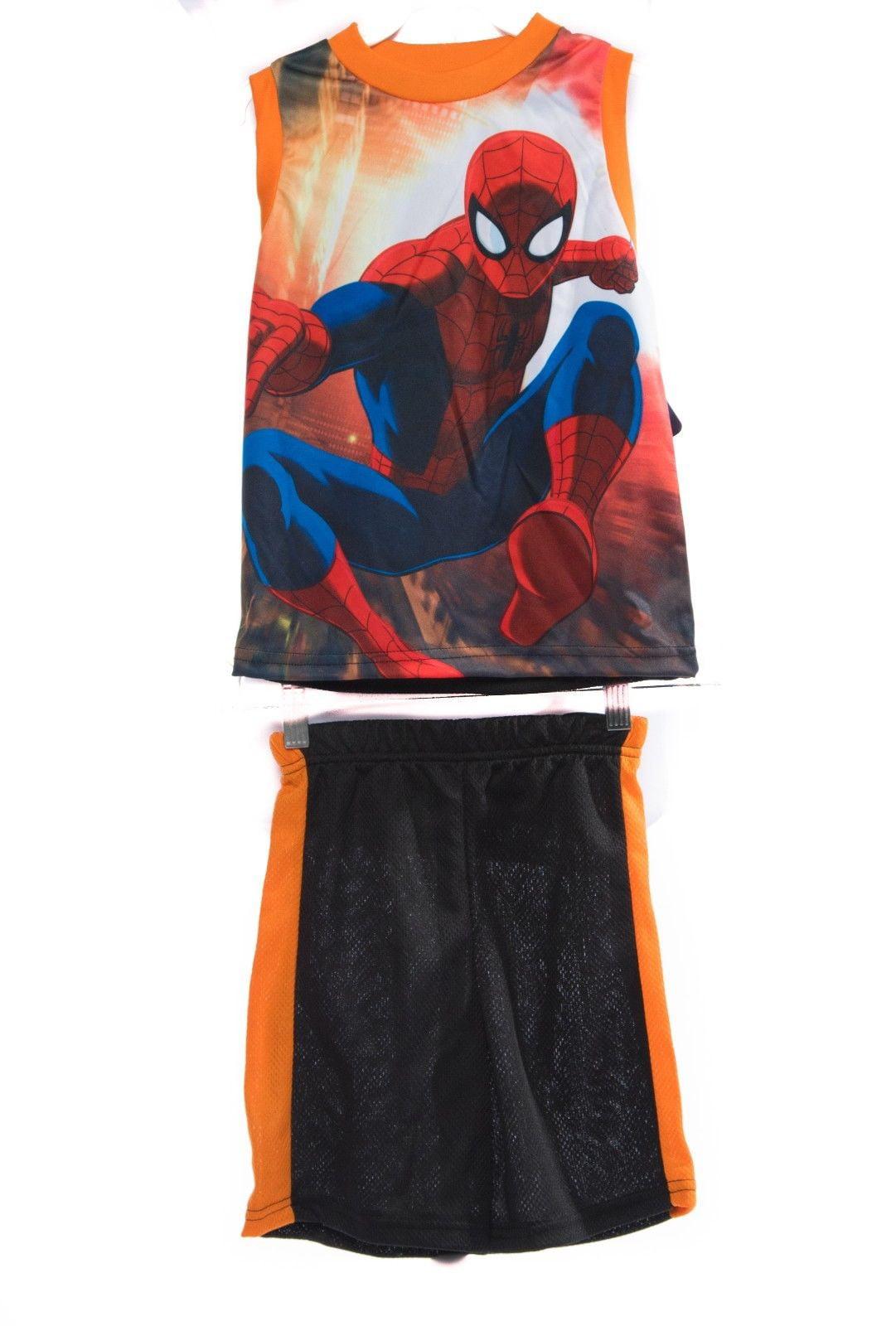 Boys Kids & Toddlers SuperHero Marvel & DC Sublimation Shirt Short Set SUPERHERO