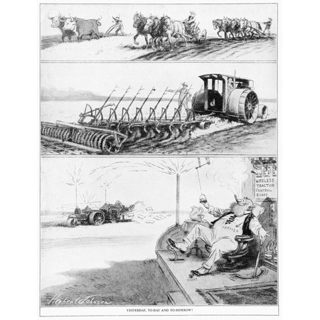 Comic strip in Country Gentleman agricultural magazine from the early 20th century Canvas Art - Remsberg Inc Design Pics (13 x 17)