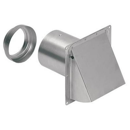 Broan-Nutone 885AL Aluminum Wall Cap for 3 & 4 in. Round Duct Wall Cap Vent
