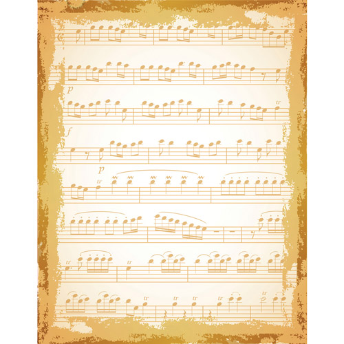 Justrite Papercraft Cling Background Stamp, 4.5 by 5.75-Inch, Shabby Music Multi-Colored