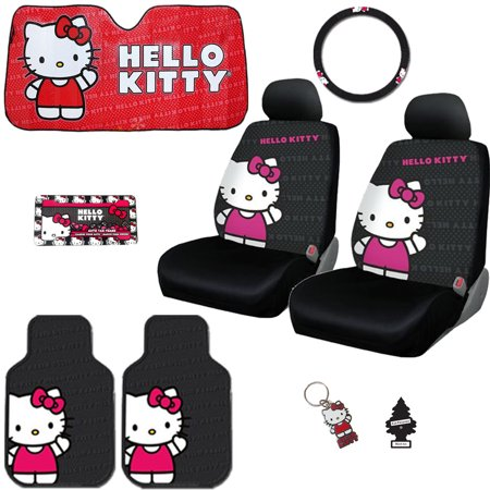 Hello Kitty Code (New Hello Kitty Core Car Seat Covers, Steering Wheel Cover, Floor Mats and Accessories Set - Shipping)