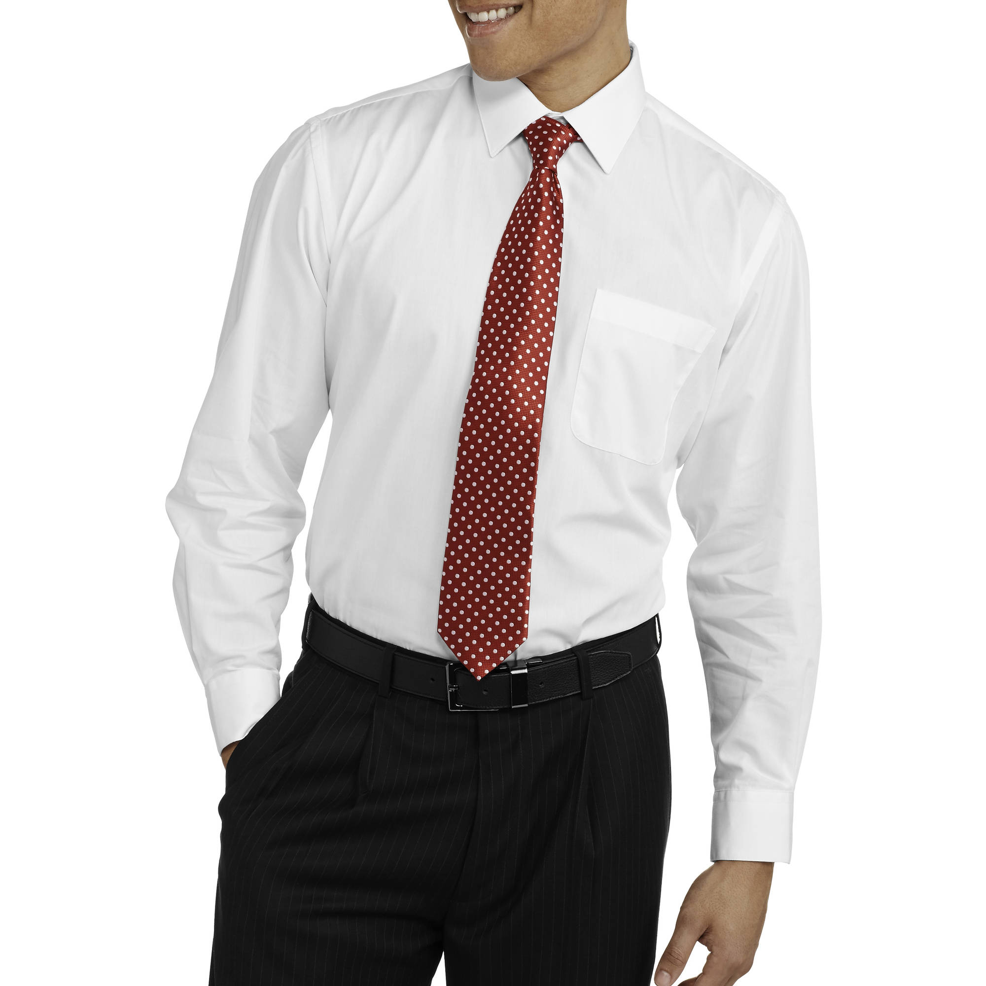 big s packaged sleeve dress shirt and 2 ties set