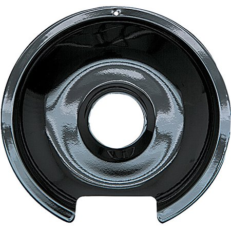 Range Kleen 1 Large Drip Pan, Style D fits Hinged Electric Ranges GE/Hotpoint/Kenmore, Black