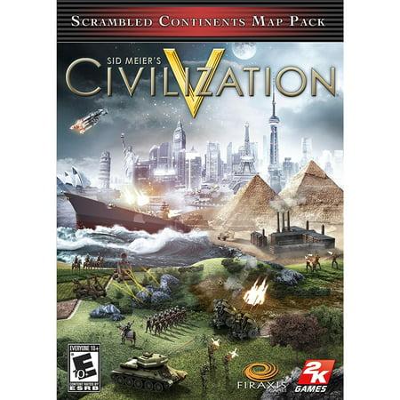 Sid Meier's Civilization V - Scrambled Continents Map