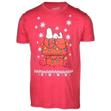 mens licensed snoopy peanuts christmas t shirt walmartcom - Peanuts Christmas Shirt