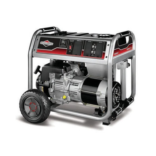Briggs and Stratton 5000-Watt Gas Powered Portable Generator with 1650 Series 342cc Engine and Power Surge Alternator