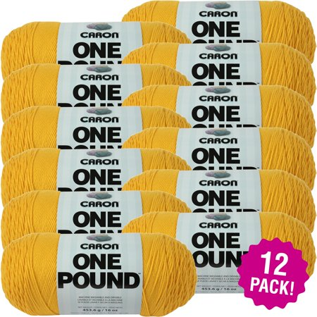 Caron One Pound Yarn - Sunflower, Multipack of (Yarn Sunflower)