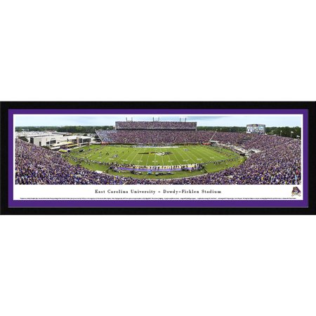 East Carolina Pirates Football - 50 Yard Line at Dowdy-Ficklen Stadium - Blakeway Panoramas NCAA College Print with Select Frame and Single Mat ()