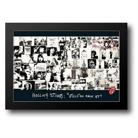 Main Stone - Rolling Stones, exile on main street 40x28 Framed Art Print by Frank, Robert