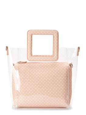 Time and Tru Rory 3-in-1 Clear Tote Handbag with Pouch