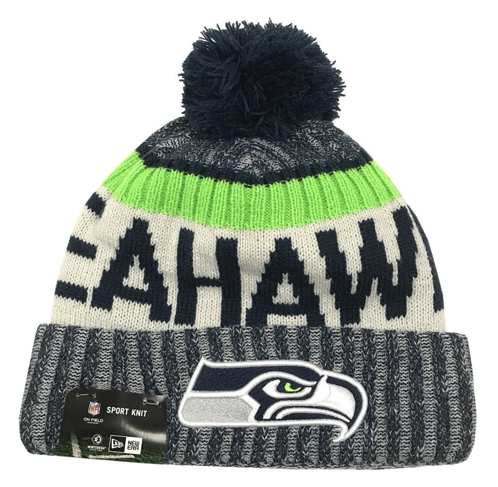 New Era Seattle Seahawks Knit Beanie Cap Hat NFL 2017 On Field Sideline 11460380 by New Era