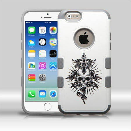 Apple iPhone 6/6S MyBat TUFF Merge Hybrid Protector Cover, Furious Skull/Iron Gray Gray Skull Protector Faceplate