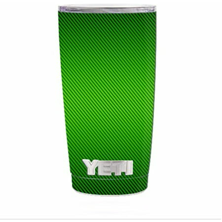 Skin Decal Vinyl Wrap for Yeti 20 oz Rambler Tumbler Stickers Skins Cover / Lime Green carbon fiber graphite