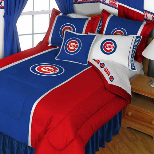 MLB Chicago Cubs Comforter Pillowcase Baseball Bedding Twin